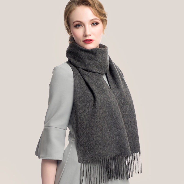 Wool Scarf Dark Gray
