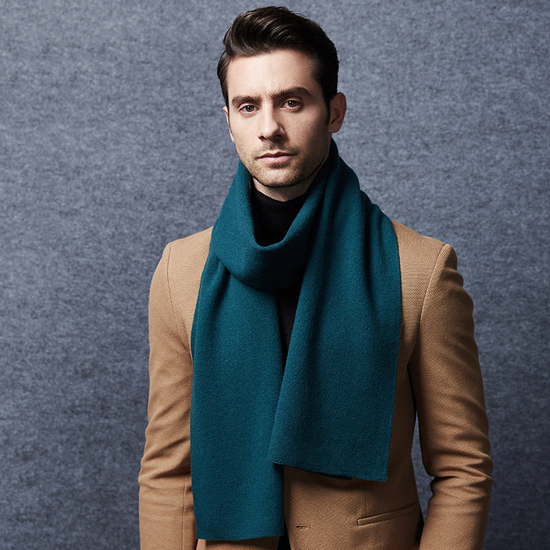 Wool Scarf Mens English Green
