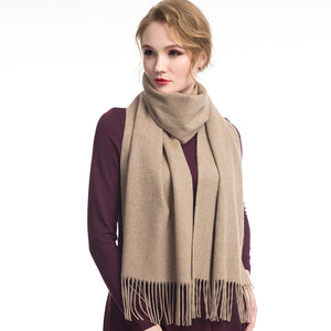 Wool Scarf Camel Coffee
