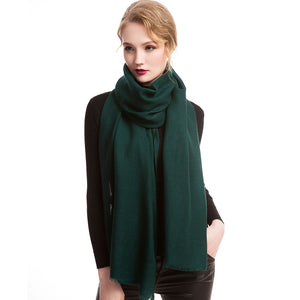 Wool Scarf Featherlight Pure Army Green