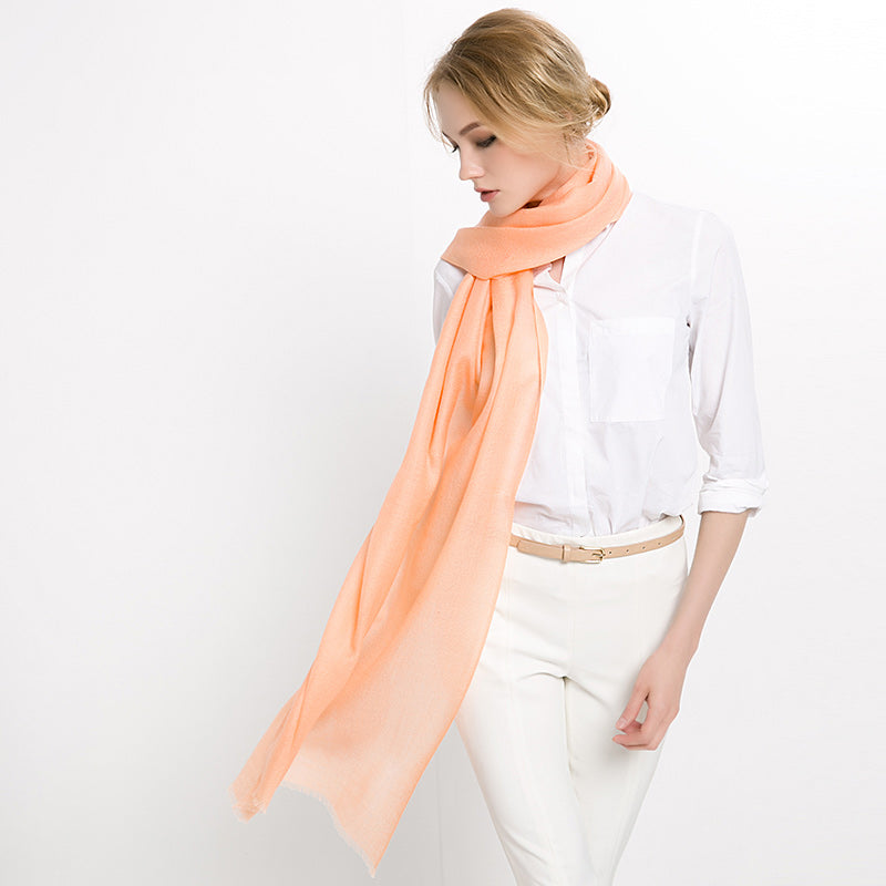 Wool Scarf Featherlight Orange