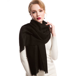 Wool Scarf Featherlight Pure Black