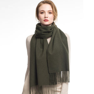 Wool Scarf Olive Green