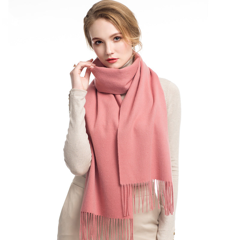 Wool Scarf Flamingo Pink