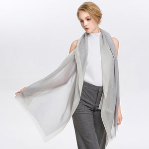 Wool Scarf Featherlight Ash Gray