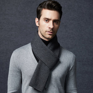 Wool Scarf Mens Dark Gray