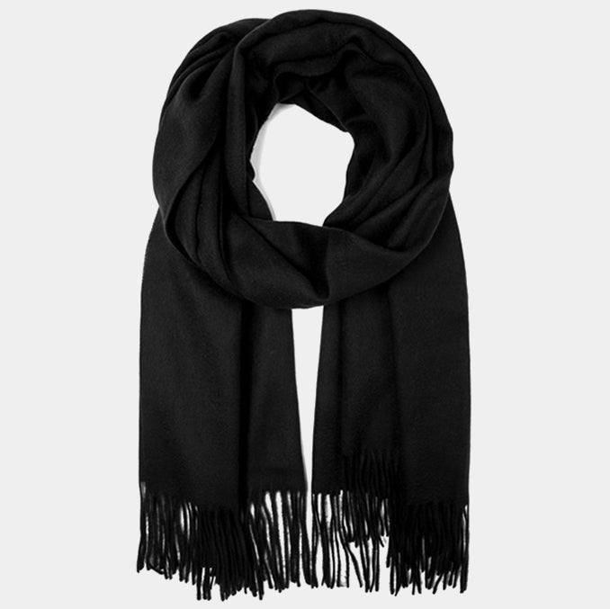 wool scarf black