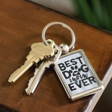 Load image into Gallery viewer, Best Dog Mom Ever Keychain