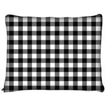 Load image into Gallery viewer, Black Buffalo Plaid Dog Beds