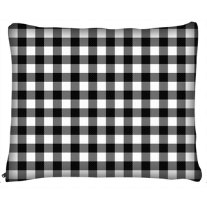 Black Buffalo Plaid Dog Beds