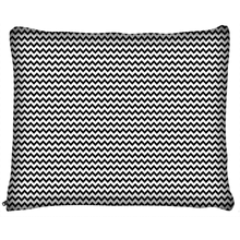 Load image into Gallery viewer, Black and White Chevron Dog Beds