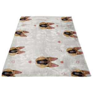 German Shepherd Fleece Blanket