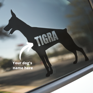 Doberman Dog Decal