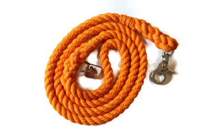 Orange Rope Dog Leash