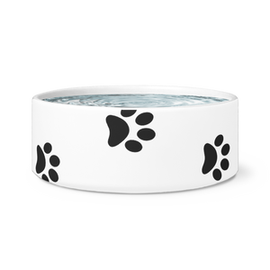 Paw Print Dog Bowl