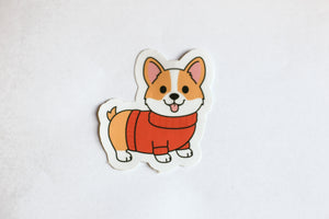 Corgi Sweater Sticker