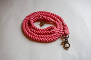 Pink Rope Dog Leash