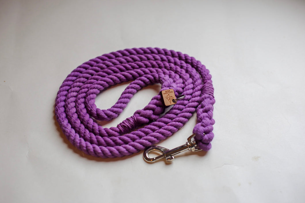 Purple Rope Dog Leash