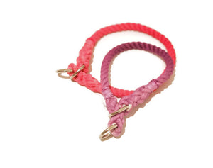Ombre Rope Dog Collar - Kai's Ruff Wear