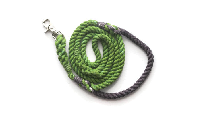 Rope Dog Leash with Traffic Handle - Kai's Ruff Wear