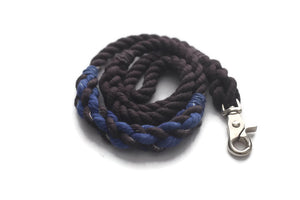 Thin Blue Line Rope Dog Leash - Kai's Ruff Wear