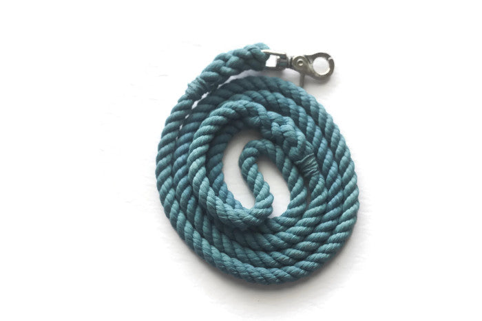 Teal Rope Dog Leash - Kai's Ruff Wear