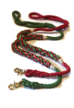 Load image into Gallery viewer, Green and Red Rope Dog Leash - Kai's Ruff Wear