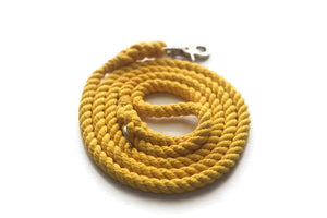 Yellow Rope Dog Leash - Kai's Ruff Wear