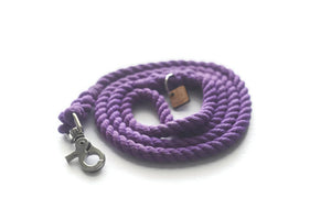 Purple Rope Dog Leash - Kai's Ruff Wear