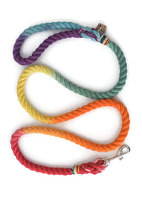 Rainbow Rope Dog Leash - Kai's Ruff Wear