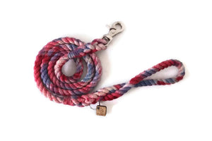 Red, White, and Blue Tie Dye Rope Leash - Kai's Ruff Wear