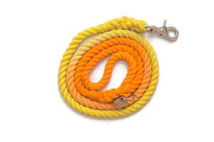 Orange and Yellow Rope Dog Leash - Kai's Ruff Wear
