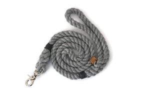 Grey Rope Dog Leash - Kai's Ruff Wear