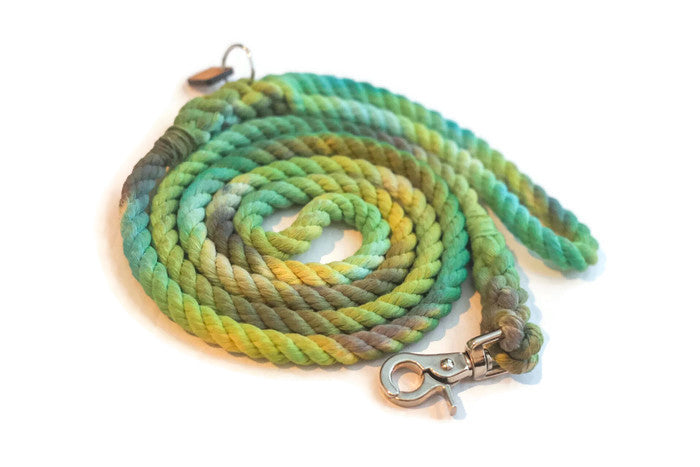 Tie Dye Rope Dog Leash - Kai's Ruff Wear