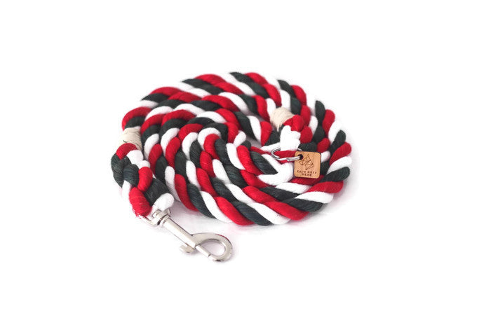 Christmas Knotted Rope Dog Leash - Kai's Ruff Wear