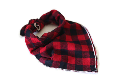 Buffalo Plaid Dog Bandana - Kai's Ruff Wear