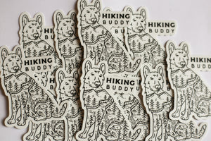 Hiking Buddy Sticker