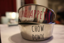 Load image into Gallery viewer, Chow Down Metal Dog Bowl