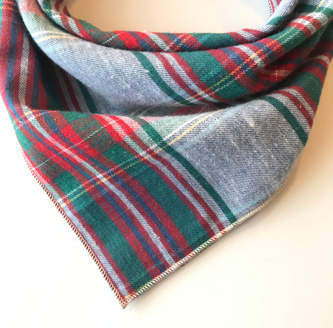 Holiday Festive Plaid Bandana