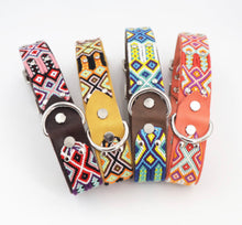 Load image into Gallery viewer, Woven Leather Dog Collar - Fiesta