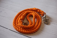 Load image into Gallery viewer, Orange Rope Leash