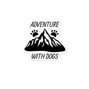 Adventure with Dogs Sticker