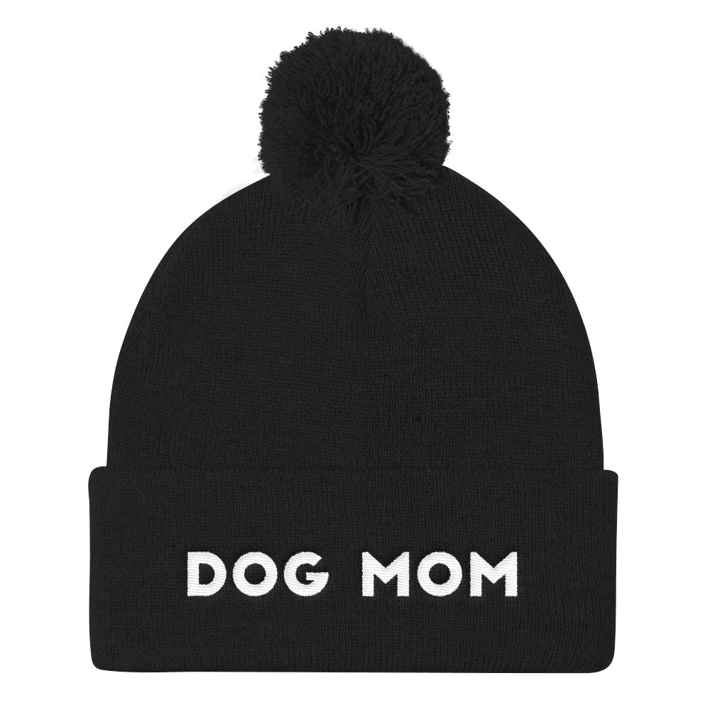 Dog Mom Pom Pom Knit Cap - Kai's Ruff Wear