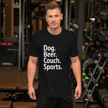 Load image into Gallery viewer, Dog Beer Sports Short-Sleeve Unisex T-Shirt - Kai's Ruff Wear