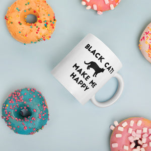 Black Cats Make Me Happy Mug - Kai's Ruff Wear