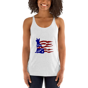 German Shepherd American Flag Tank