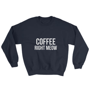 Coffee Right Meow Sweatshirt - Kai's Ruff Wear
