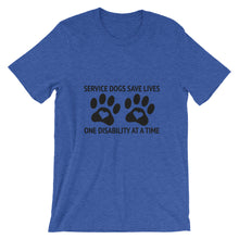 Load image into Gallery viewer, Service Dogs Save Lives Short-Sleeve Unisex T-Shirt - Kai's Ruff Wear