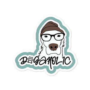 Dogaholic Sticker