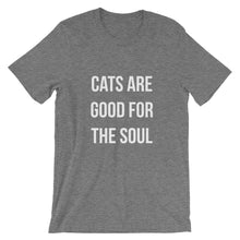 Load image into Gallery viewer, Cats are Good for the Soul Short-Sleeve Unisex T-Shirt - Kai's Ruff Wear